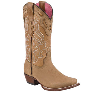 Women's Quincy Tan with Honey Square Toe Boots