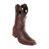 Men's Wild West Rage With Rubber Sole Boots Square Toe