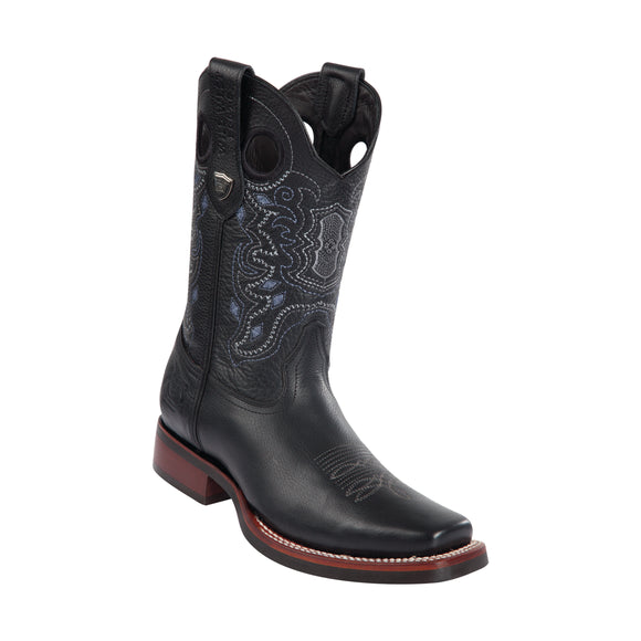 Men's Wild West Grisly With Rubber Sole Boots Square Toe