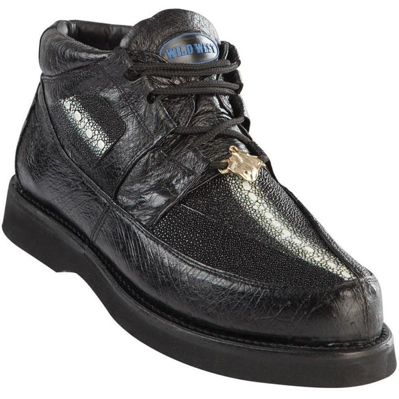 Men's Wild West Stingray With Smooth Ostrich Casual Shoes