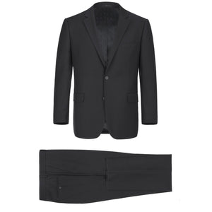 Men's Renoir Two Piece Black Slim Fit Suit