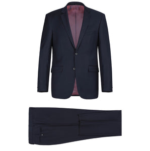 Men's Renoir Two Piece Dark Navy Wool Suit Slim Fit
