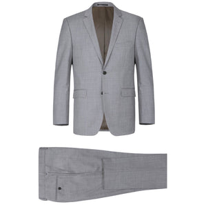 Men's Renoir Two Piece Light Gray Wool Suit Classic Fit