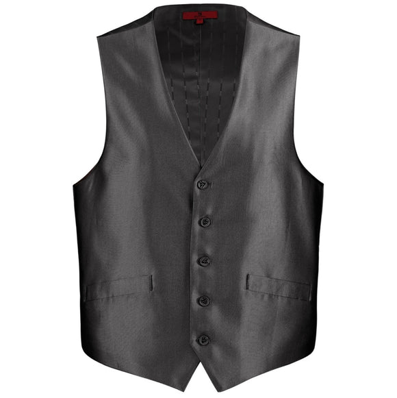 Men's Renoir Black Shiny Suit Vest