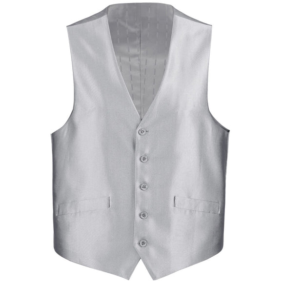 Men's Renoir Shiny Silver Suit Vest