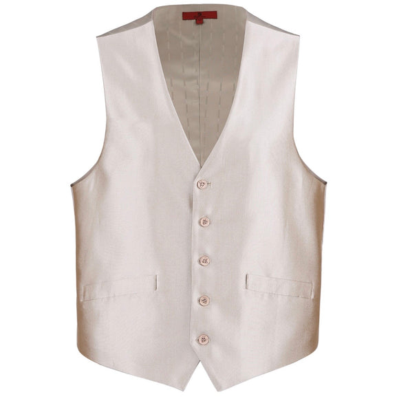 Men's Renoir Shiny Champagne Suit Vest