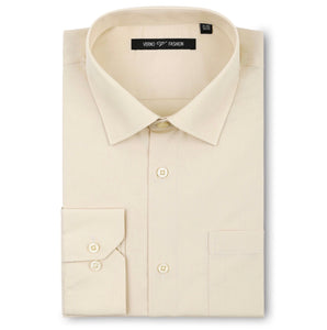 Men's Champagne Dress Shirt Classic Fit Verno Fashion