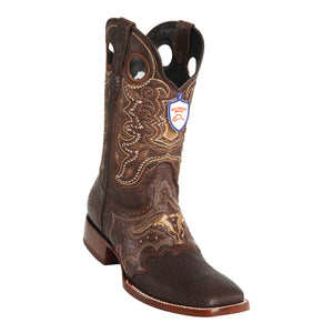 Men's Wild West Shark Saddle Boots Wide Square Toe