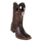 Men's Wild West Teju Lizard With Rubber Sole Boots Wide Square Toe