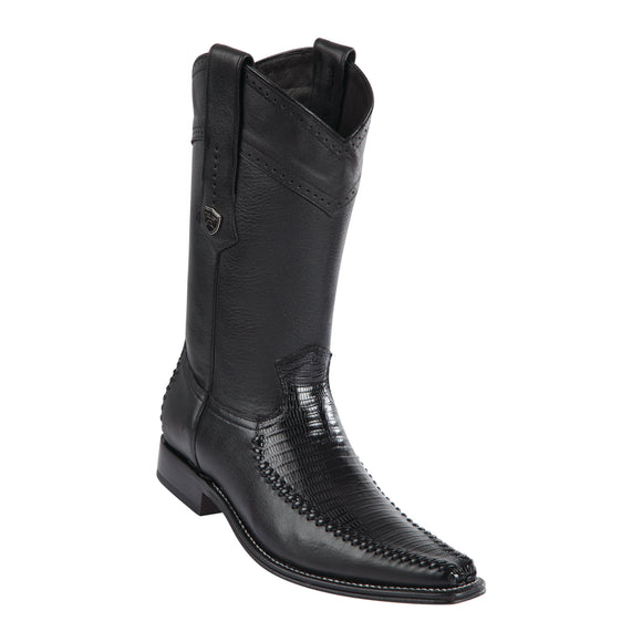 Men's Wild West Teju With Deer Boots European Square Toe