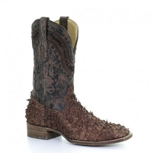 Corral Men's Gnarly Fish Wide Square Toe Boots A3086