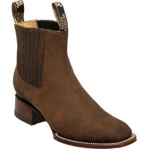Men's Quincy Suede Charro Boots Square Toe