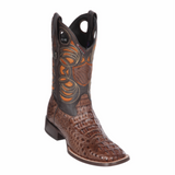 Men's WIld West Caiman Hornback Boots Wide Square Toe