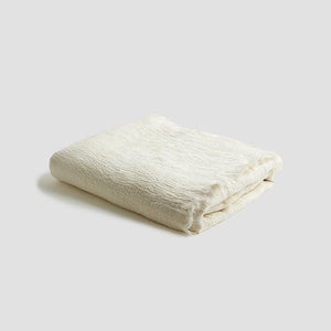 Cream Linen Crinkle Throw - Piglet in Bed