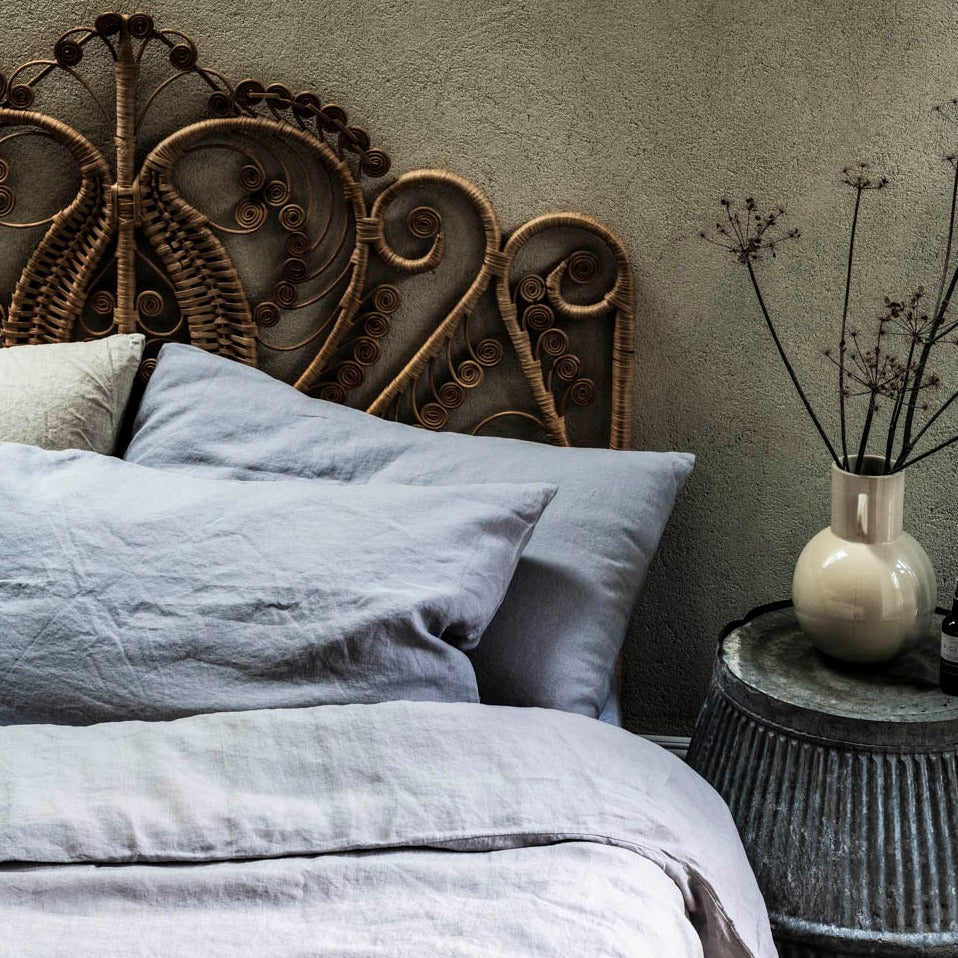 Dove Grey Linen Single Duvet Cover Set
