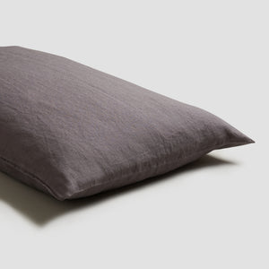 Charcoal Grey Linen Pillowcases (Pair)