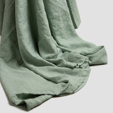 Sage Green Linen Double Duvet Cover