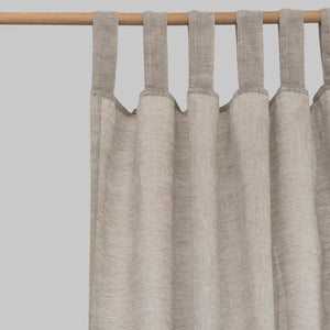 Oatmeal Linen Curtains - Piglet in Bed