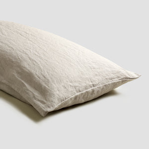 Oatmeal Linen Pillowcases - Piglet in Bed