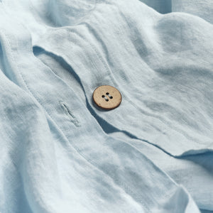 Lake Blue Linen Duvet Cover