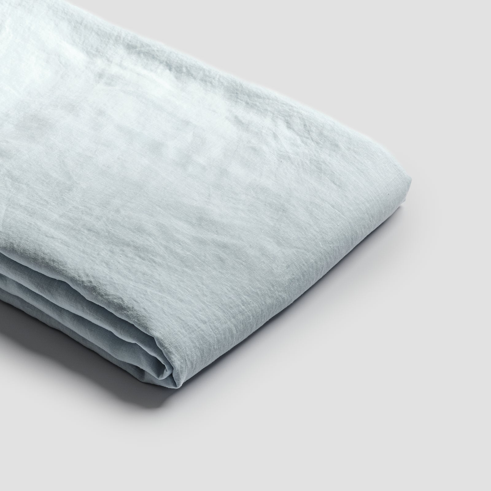 Piglet Lake Blue Linen Duvet Cover Size Super King   100% Natural Stonewashed French flax