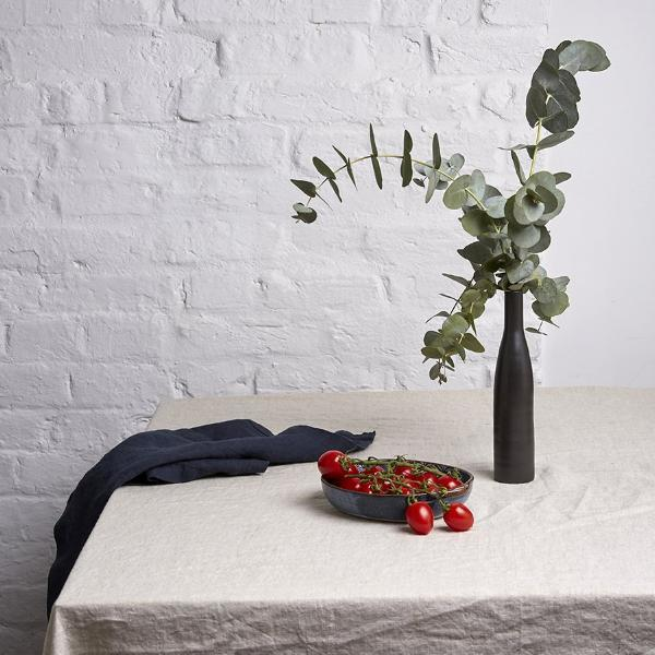 Navy Linen Napkin - Piglet in Bed