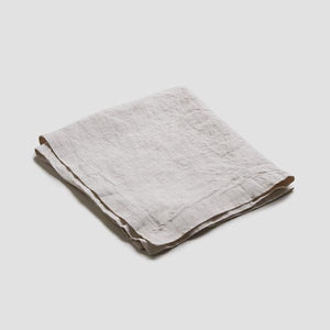 Oatmeal Linen Napkin - Piglet in Bed