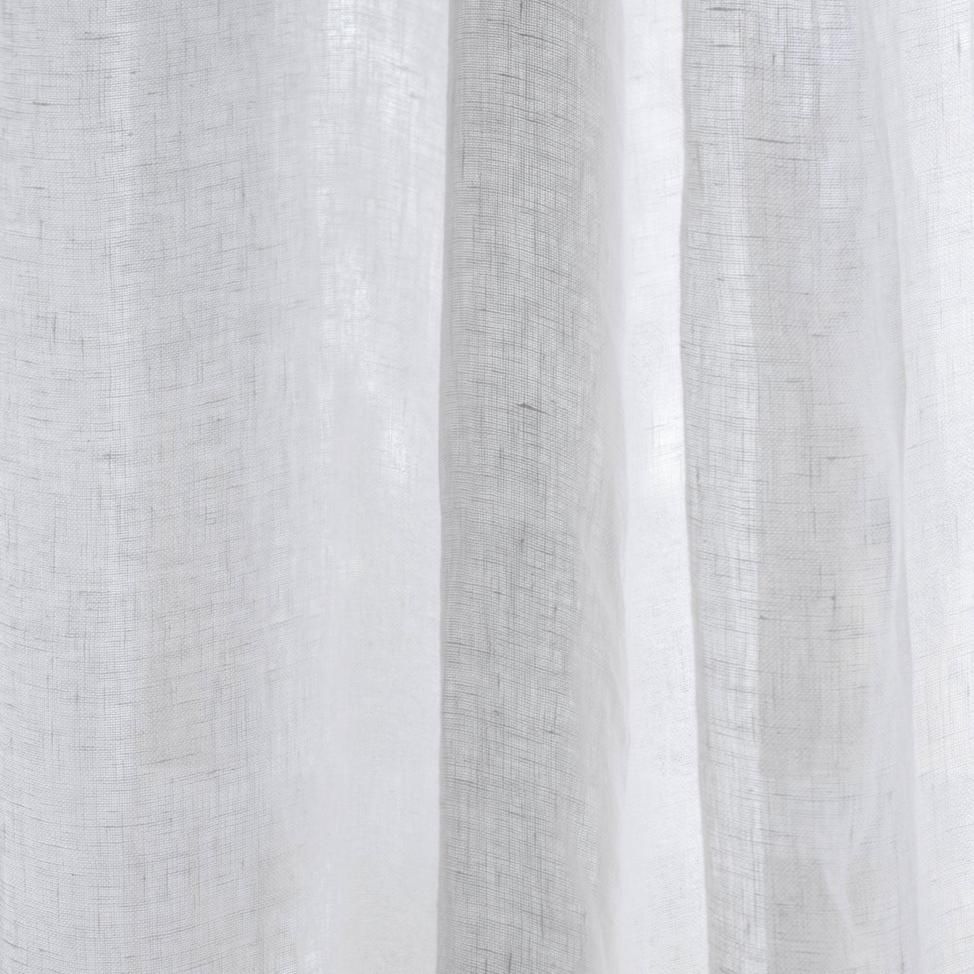 White Linen Curtains - Piglet in Bed