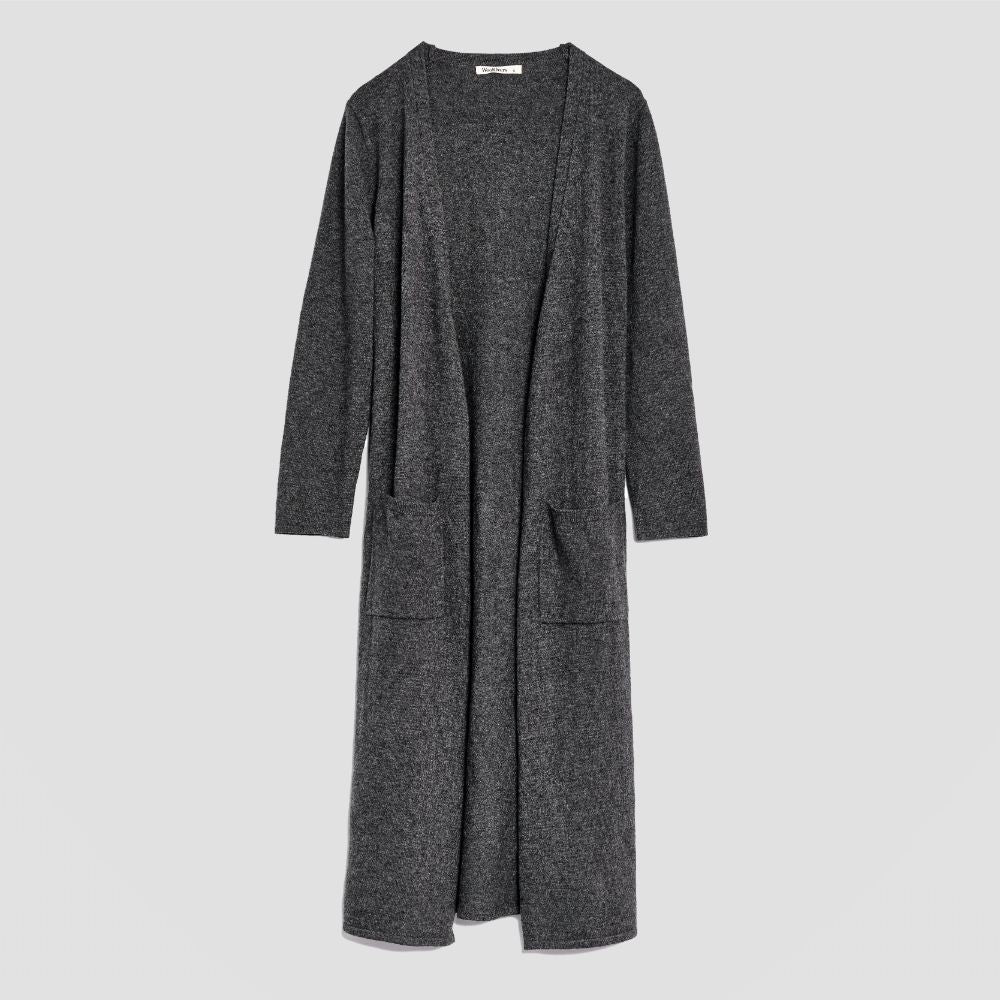 Piglet x WoolOvers Cashmere Merino Dressing Gown Dark Charcoal