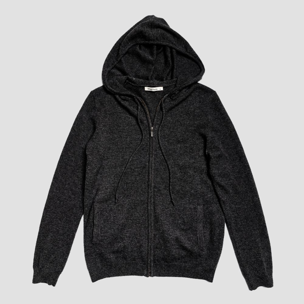 Piglet x WoolOvers Cashmere Merino Hoodie - Dark Charcoal