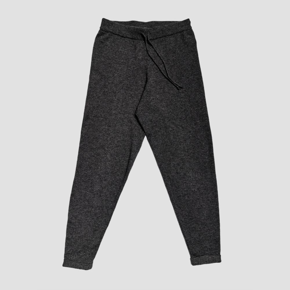 Piglet x WoolOvers Cashmere Merino Lounge Joggers Dark Charcoal