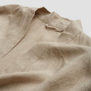 Oatmeal Linen Robe - Piglet in Bed