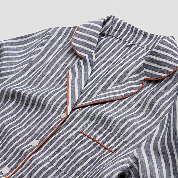 Midnight Stripe Pyjama Shirt