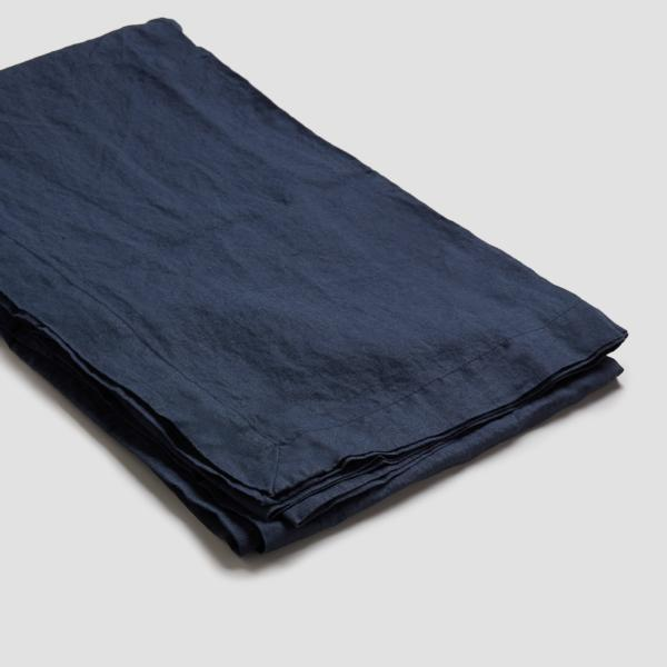 Navy Linen Tablecloth