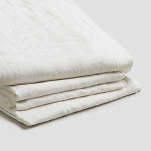 White Linen Complete Sheet Set - Piglet in Bed