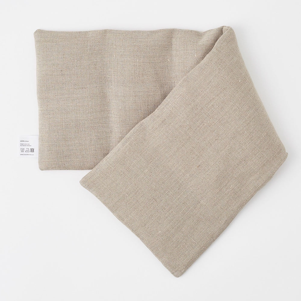Wheat Bag in Plain Linen - Piglet in Bed