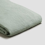 Sage Green Linen Single Duvet Cover Set