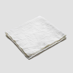 White Linen Napkin - Piglet in Bed
