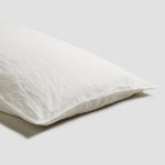 White Linen Pillowcases (Pair)