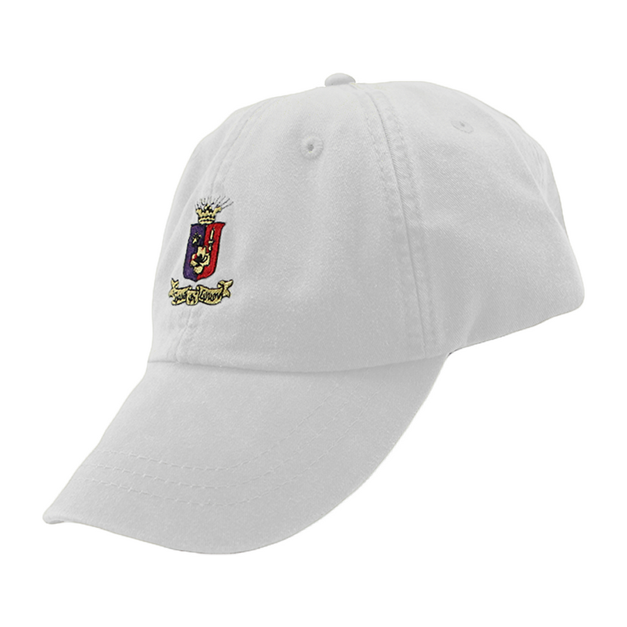 Leather-Strapped Crest Cap