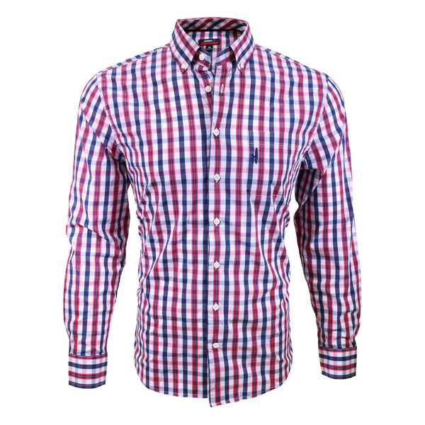 Johnnie-O SigEp Button Down - Red Plaid