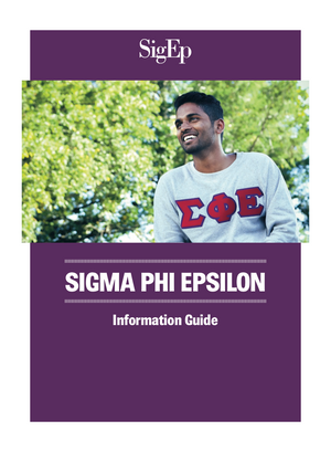 SigEp Information Guide (Pack of 50)