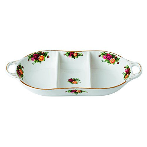 Royal Albert OLD COUNTRY ROSES DIVIDED SERVER 14""