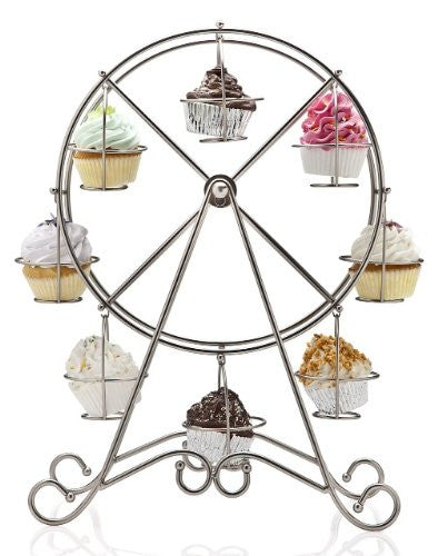 Ferris Wheel Cupcake Holder Color: Shiny Silver
