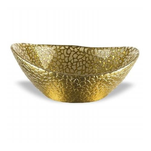 Badash Antique Gold Snakeskin Bowl, 6.5 by 5.5-Inch