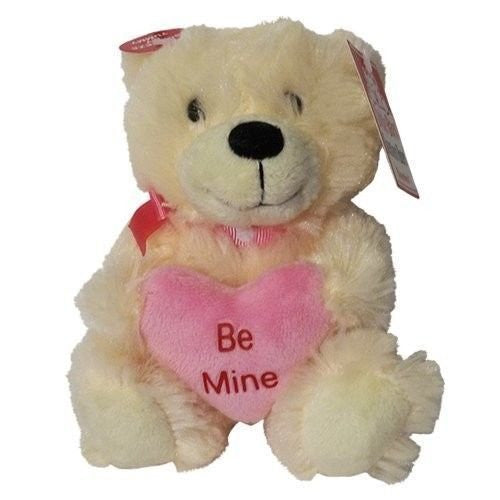 Cuddle Barn Valentine Adorable Talking Sweetheart Be Mine Bear - White