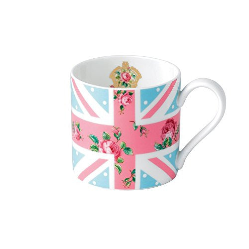 Royal Albert CHEEKY PINK MUG UNION JACK