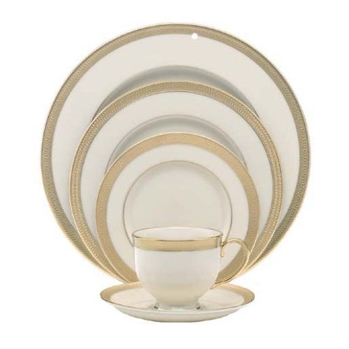 Lenox Lowell Gold Banded Ivory China 5-Piece Place Setting, Service for 1