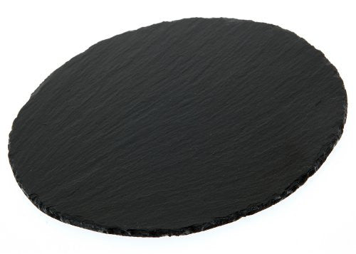 The Just Slate Company Round Natural Slate Place Mat, 8.97-Inch Diameter, Set...