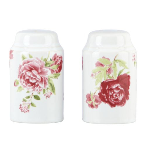 Gorham Kathy Ireland Home Blossoming Rose Salt and Pepper Set